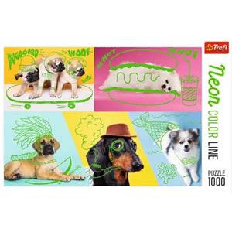 TREFL ΠΆΖΛ 1000ΤΕΜ. NEON COLOR LINE: COOL DOGS 10578
