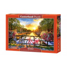 C-104536 Picturesque Amsterdam With Bicycles Puzzle 1000