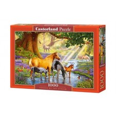 CASTORLAND ΠΑΖΛ 1000ΤΕΜ C-103737 HORSES BY THE STREAM