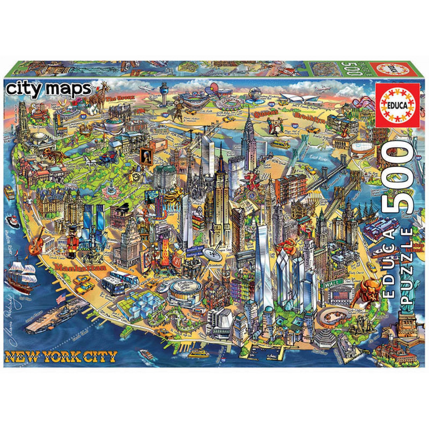 EDUCA 500 ΤΜΧ New York City map ΠΑΖΛ