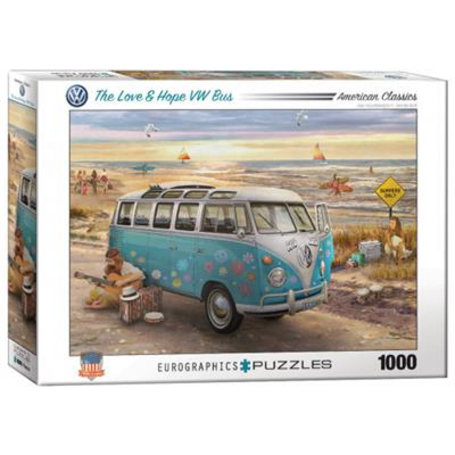 EUROGRAPHICS ΠΆΖΛ 1000ΤΕΜ. 6000-5310 THE LOVE & HOPE VW BUS OFFICIAL VOLKSWAGEN LICENSED