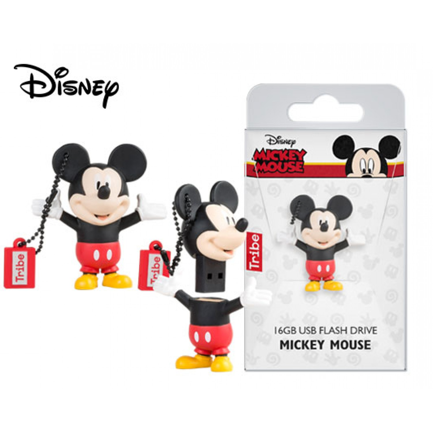 TRIBE FLASH DRIVE USB 3D DISNEY CLASSIC MICKEY MOUSE 16GB