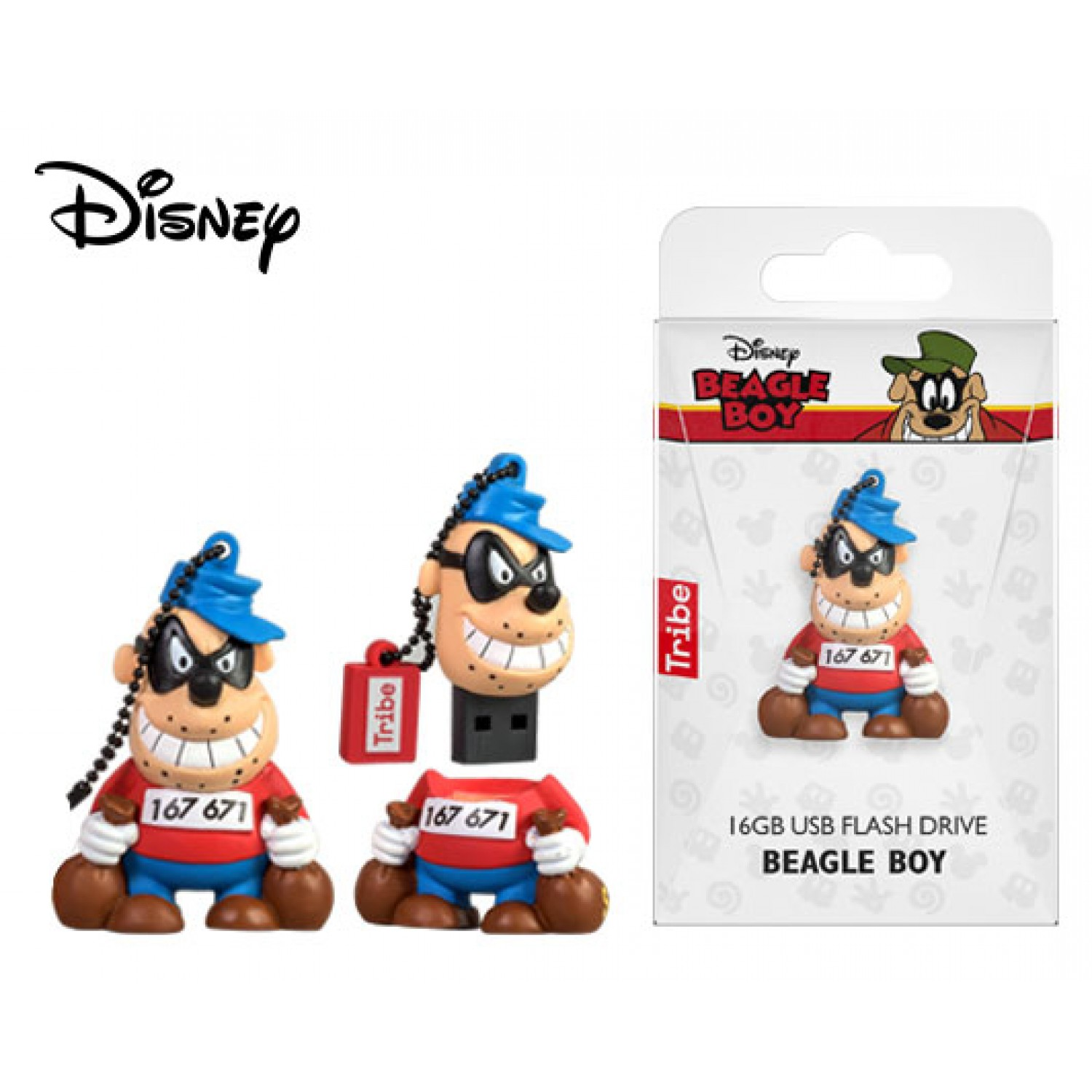 TRIBE FLASH DRIVE USB 3D DISNEY CLASIC BEAGLE BOY 16GB