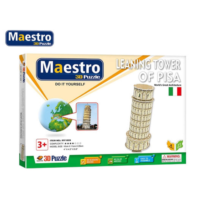 MAESTRO ΠΑΖΛ 3D 21Τ. 10x11x25cm PISA
