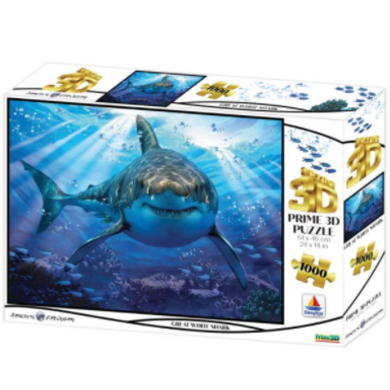 16001 3DΠαζλ1000 Howard Robinson – Great White Shark